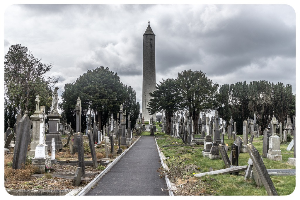 One of the top places to visit in Ireland is the Glasnevin Cemetery, the graves of famous people.
