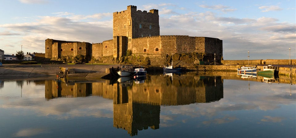 Carrickfergus Castle is the countrys most famous castle.