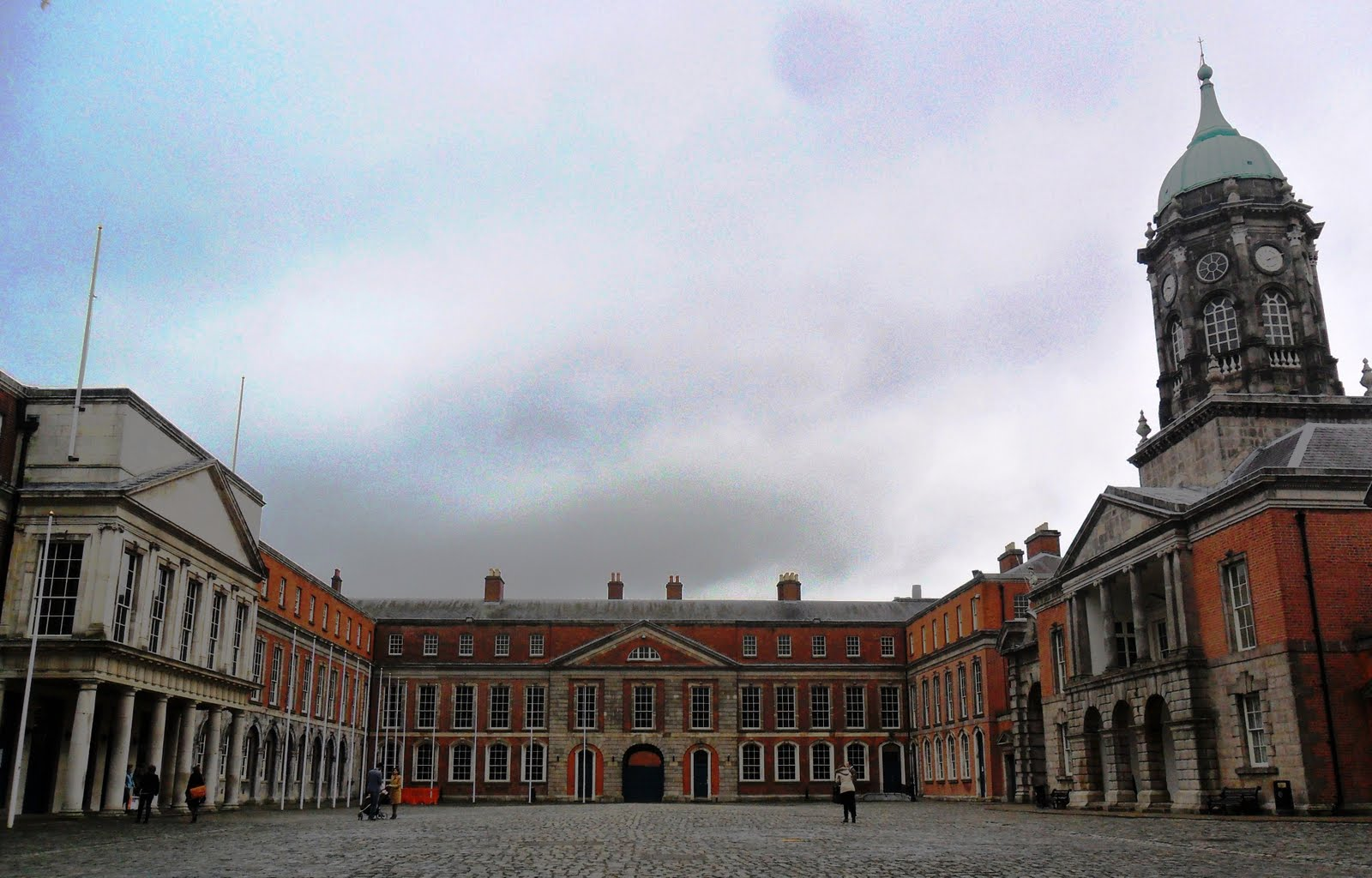 Dublin Castle off Dame Street, Dublin, Ireland, was until 1922 the seat of  British rule in Ireland, and is now a major Irish government complex. Most  of it ...