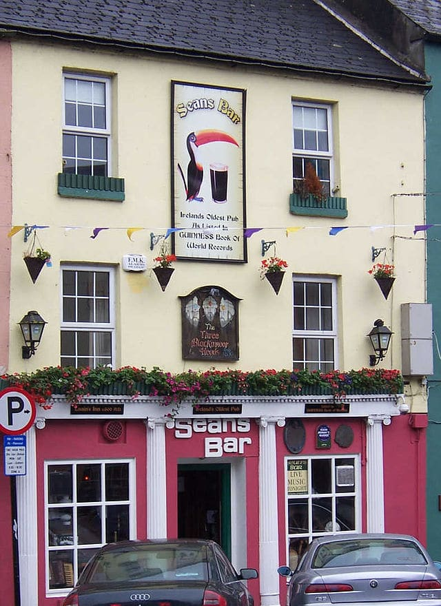 Have a pint in Sean's Bar in Athlone