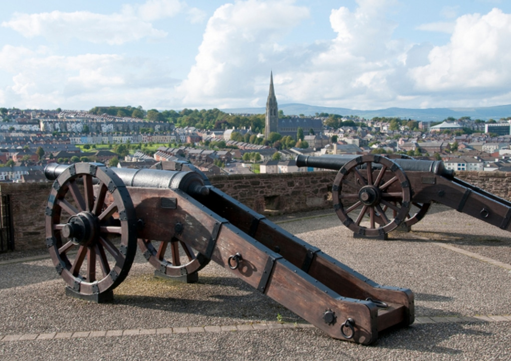 Want to know the best place to visit in every county of Northern Ireland? In Derry we recommend the Derry city walls.