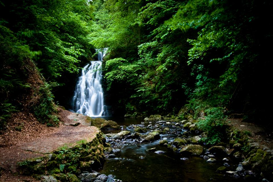 Glenoe Waterfall, one of the best places in Ireland