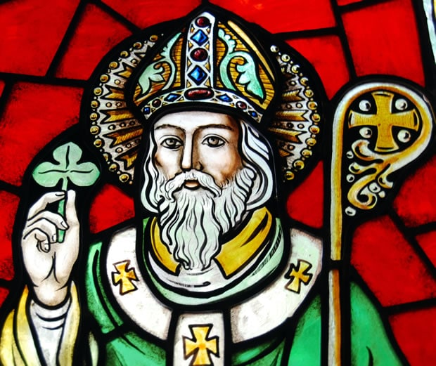Saint Patrick is the patron saint of Ireland