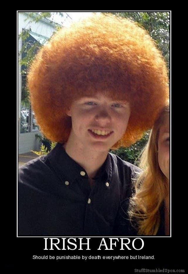 Irish Afro Redhead Afro Meme joke lol funny - Good funny afro photos