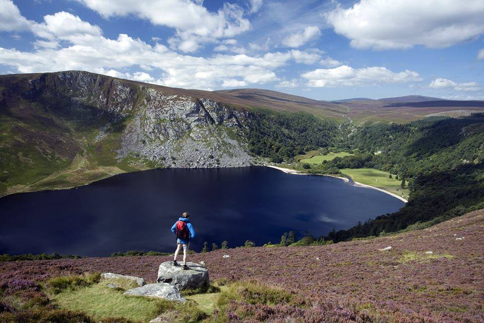 Lough Tay is one of the best day trips from Dublin within a one hour drive.