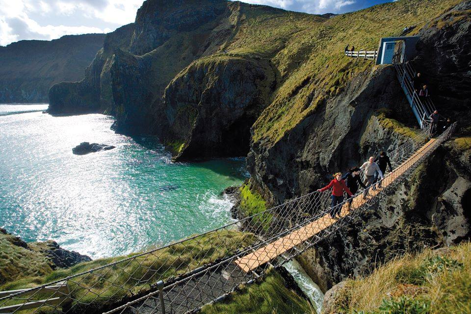 Carric-a-Rede rope bridge is great activity, another of the top best things to do in Northern Ireland.
