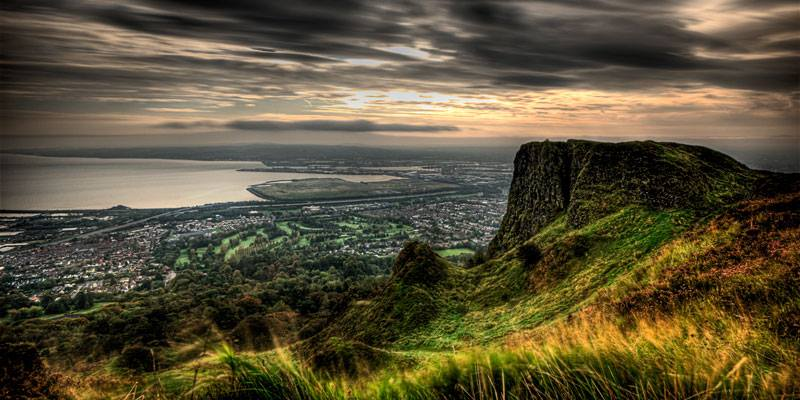 Cavehill overlooking Belfast. A fantastic place to go hiking! Share if you agree. Tag someone who should visit here!