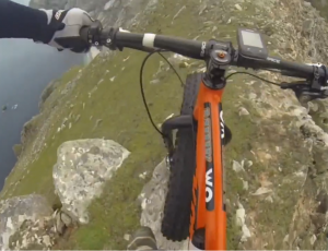 VIDEO: Insane biker tackles cliffs on Wild Atlantic Way!!