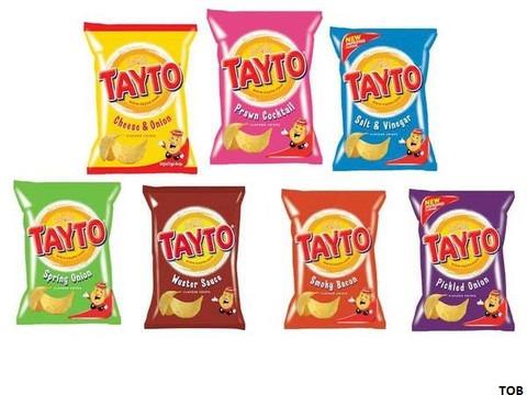 Tayto crisp offerings