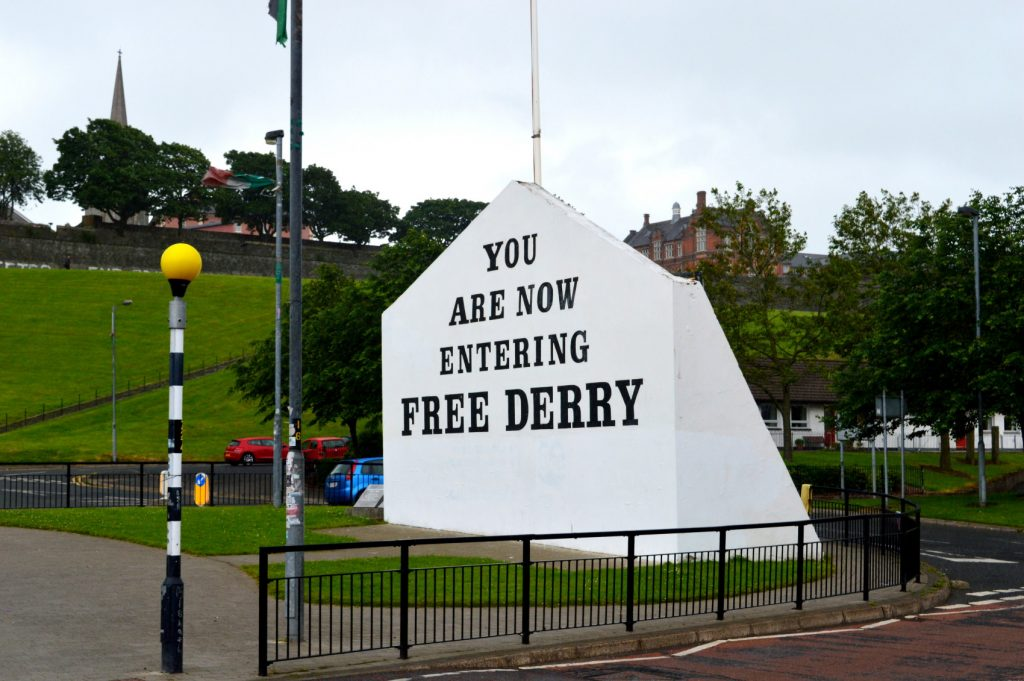 Free Derry Corner is full of history and a must-visit and one of the best things to do in Derry.