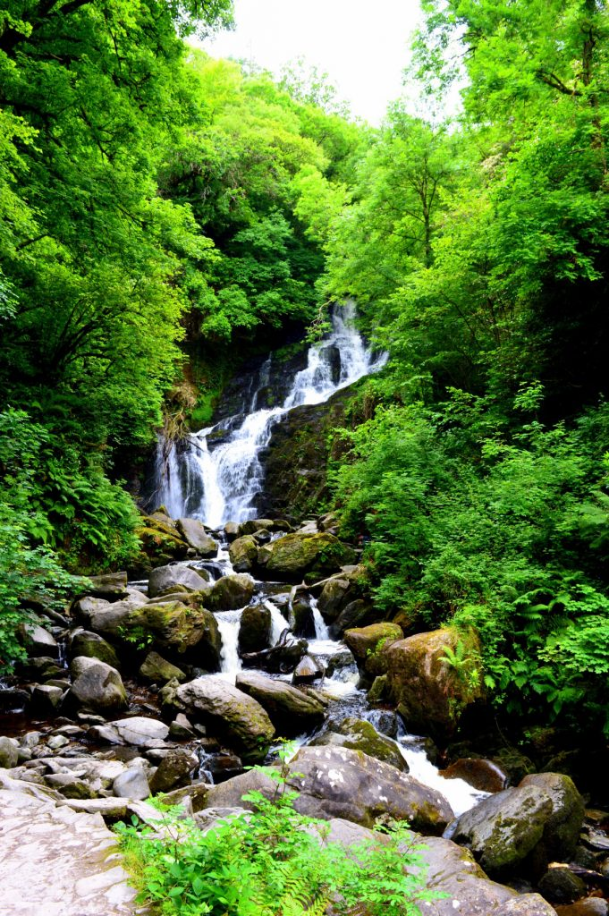 One of the best waterfalls in Ireland is located on the Ring of Kerry