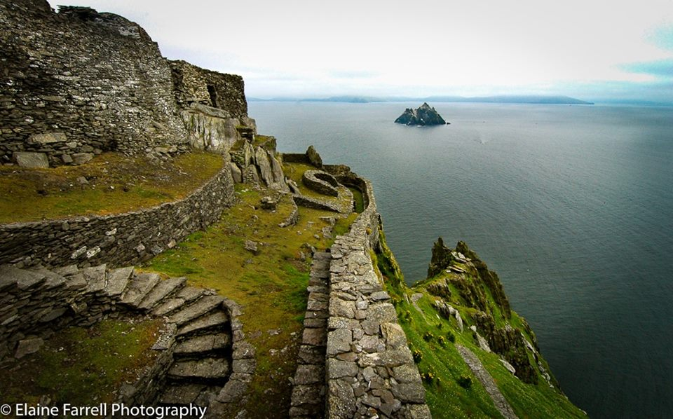 On the top, Skellig Michael. By Elaine Farrell.