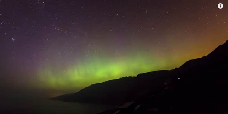 Time-lapse of the northern lights from the slieve league in Donegal
