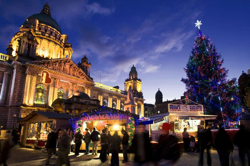 Belfast's Continental market is another of the best Christmas markets in Ireland.