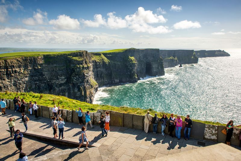 The Cliffs of Moher in County Clare, one of the best day trips from Galway.