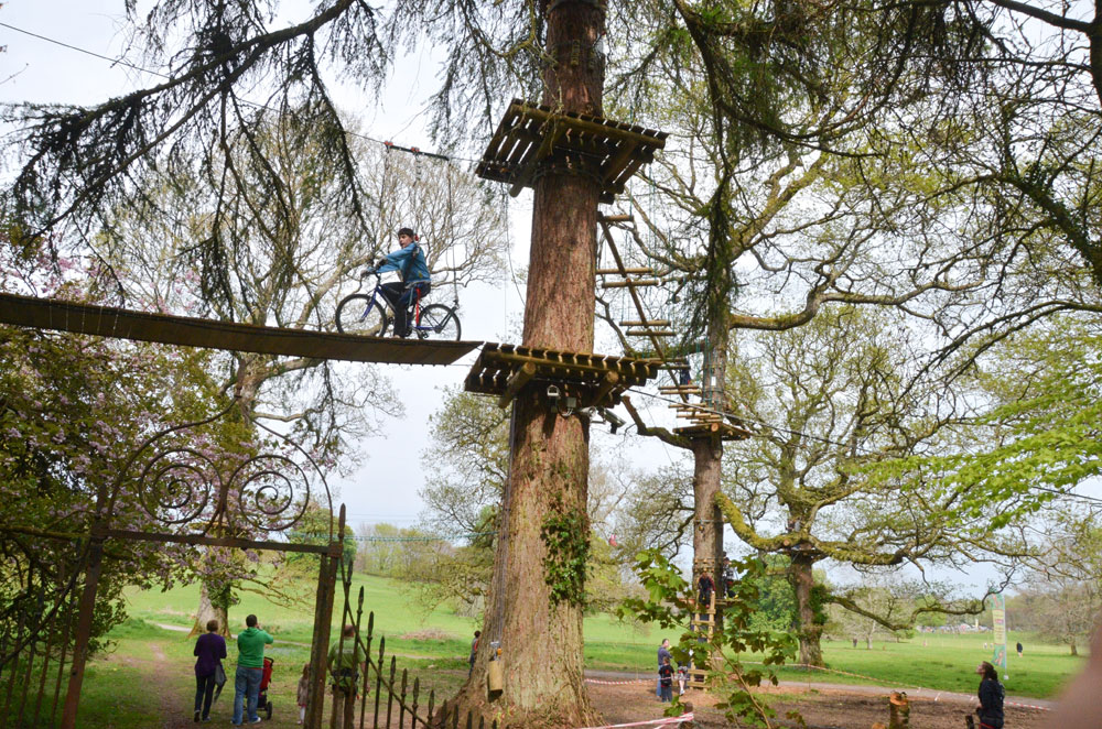 Climb up high in the Zipit Forest Adventures, something different to do.