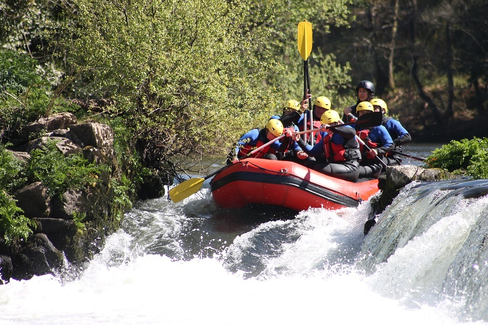 White water rafting is one of 10 thrilling activities for adrenaline junkies in Ireland