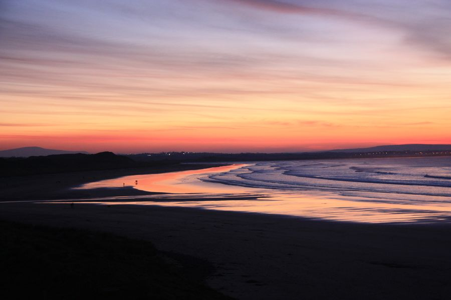 One of the top of all Ireland coastal towns is Enniscrone in Co. Sligo.
