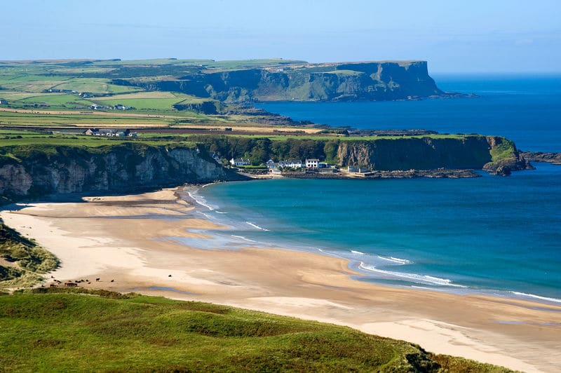 White Park Bay is another of the top Belfast to the Giant's Causeway stops.