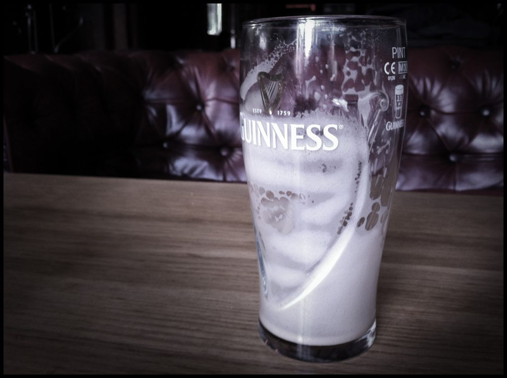 The empty glass is another great joke!