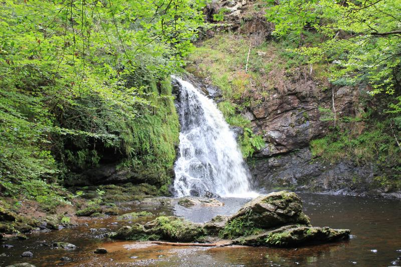Tourmakeady falls is ideal for a family day out.
