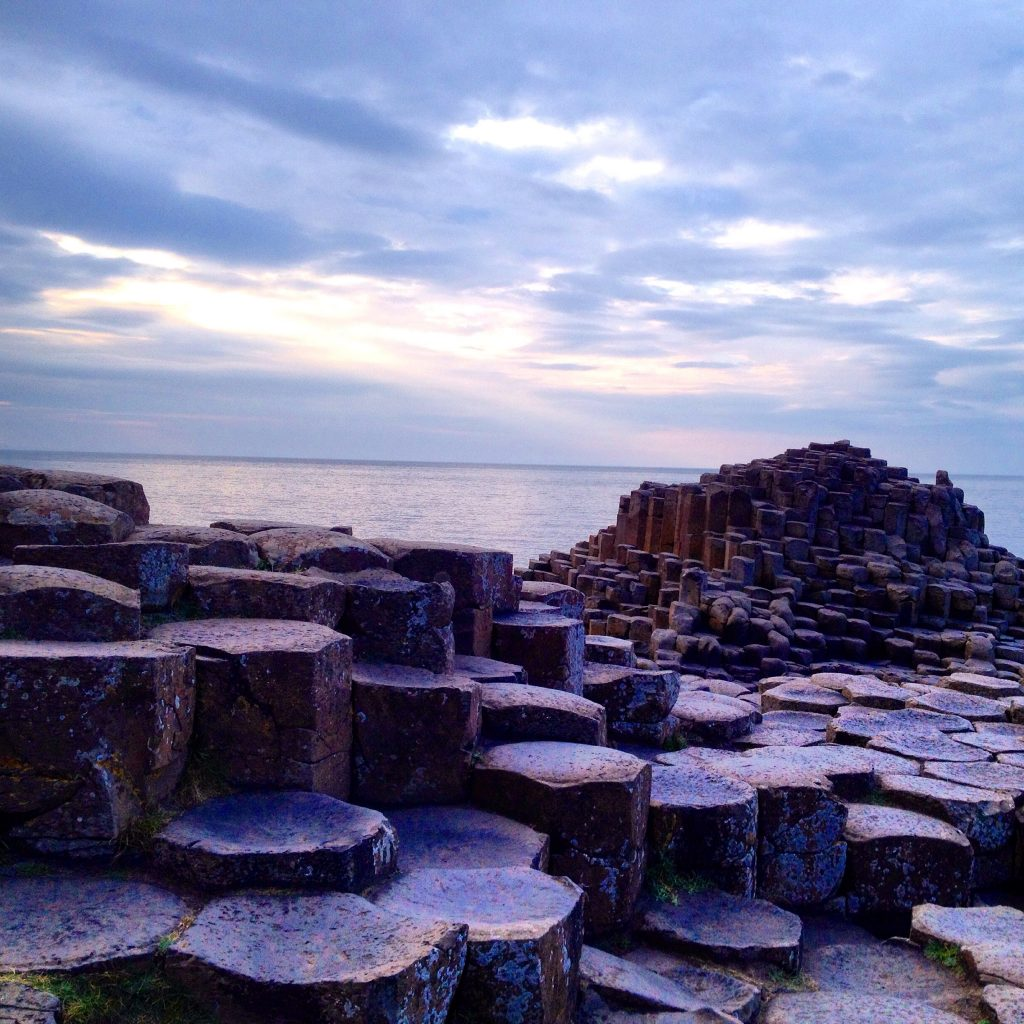 Giant's Causeway is another of the most beautiful places in Ireland, very close to Irish countryside.