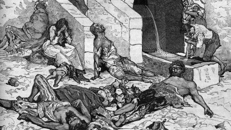 The history of Dublin includes the plague, or the Black Death