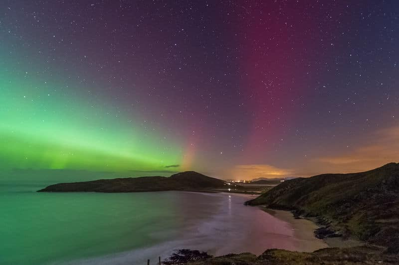The Northern Lights visit Ireland's northernmost shores