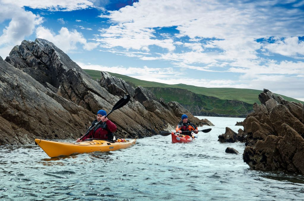 Kayaking or canoeing is a popular activity on the Emerald Isle