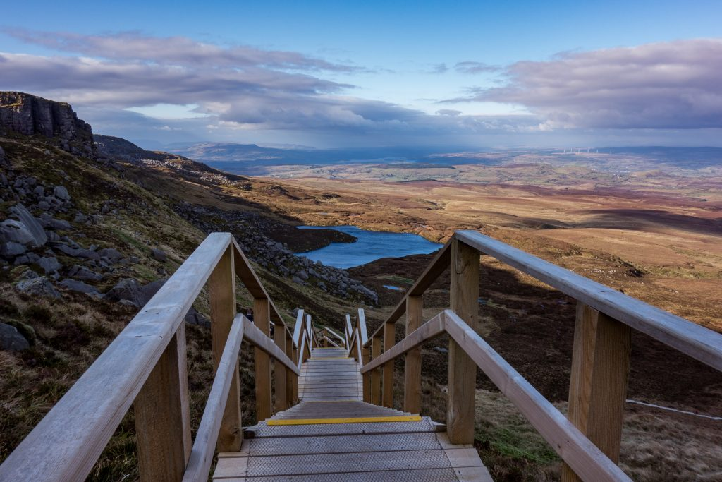 Another of the best things to do in Northern Ireland is Cuilcagh Boardwalk Trail.