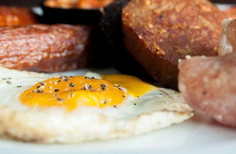 The Irish fry is a traditional breakfast