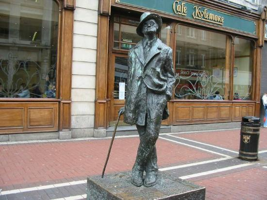 James Joyce's statue is one of the top James Joyce sites in Ireland