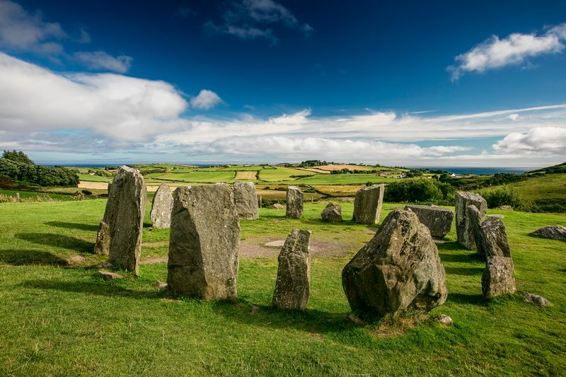 The Drombeg Stone Circle is located in County Cork