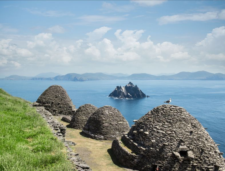 The 6th century monastic site at the Skellig Islands.