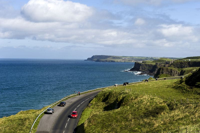 Causeway Coastal Route is another of the best things to do in Northern Ireland, its Northern Irelands best road trip.