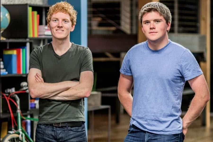 John and Patrick Collison are two of the top Irish entrepreneurs.