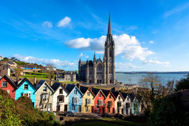 Check out towns such as Cobh when visiting the Emerald Isle