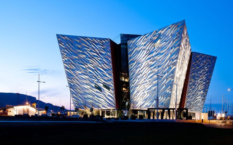 Titanic Belfast one of the 5 most beautiful buildings in Belfast.