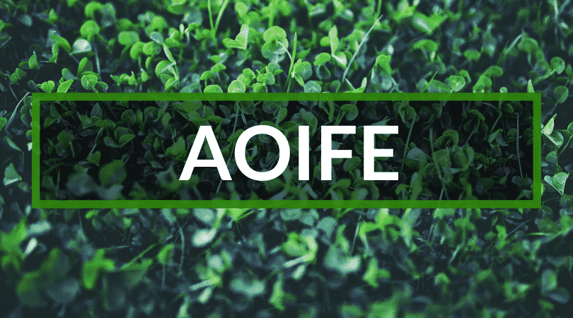 The Irish name Aoife is frequently spelt Aoife, Aife or even Eva.