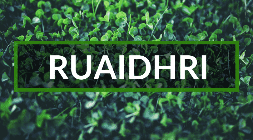 Another of the hardest to pronounce Irish first names is Ruaidhri.