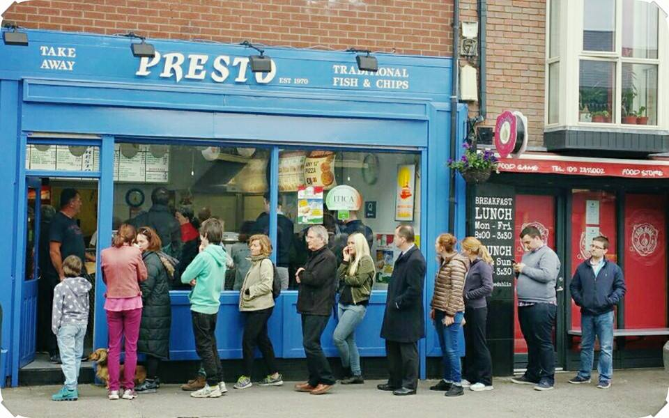 Presto Chipper is one of the five best places for Fish and Chips in Dublin.
