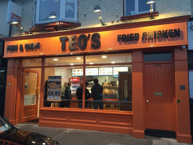 Teo's is one of the five best places for Fish and Chips in Dublin
