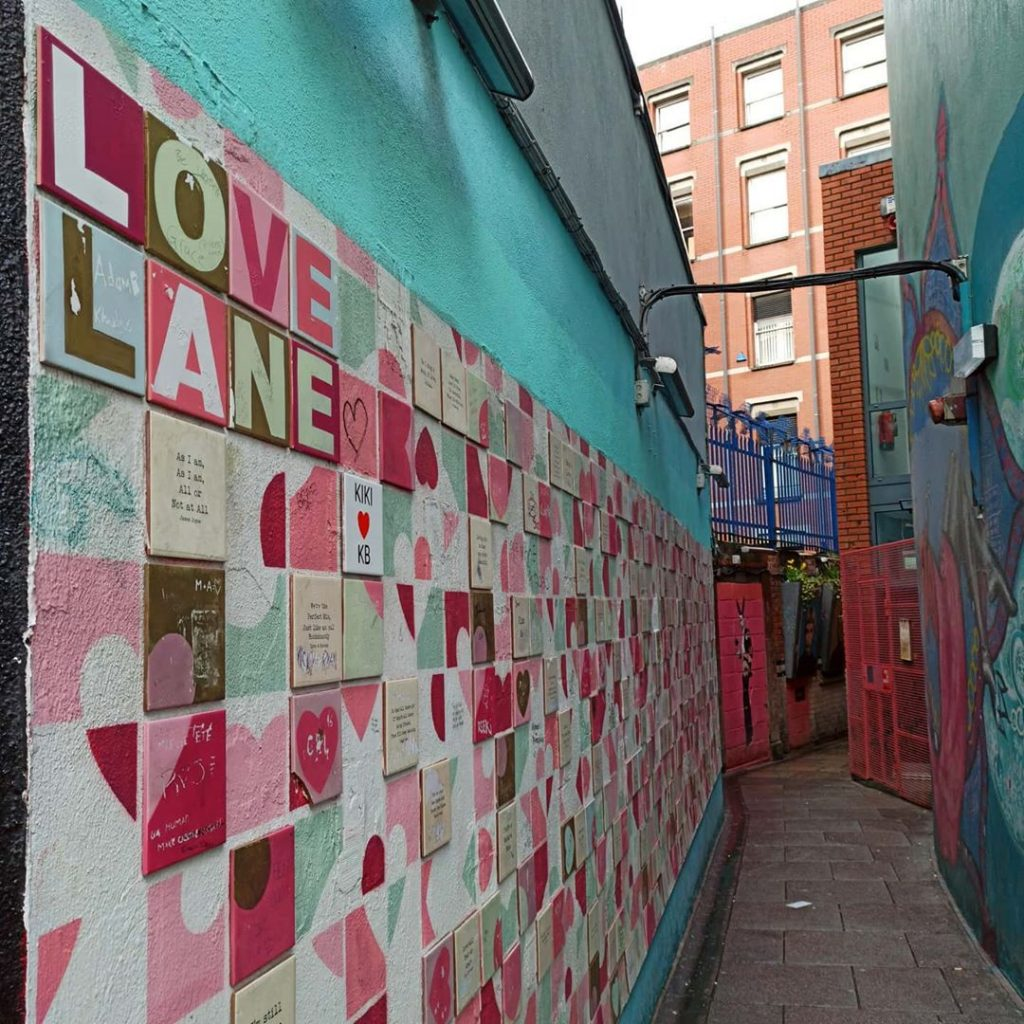 Another of the top Dublin street art sites is Love Lane.