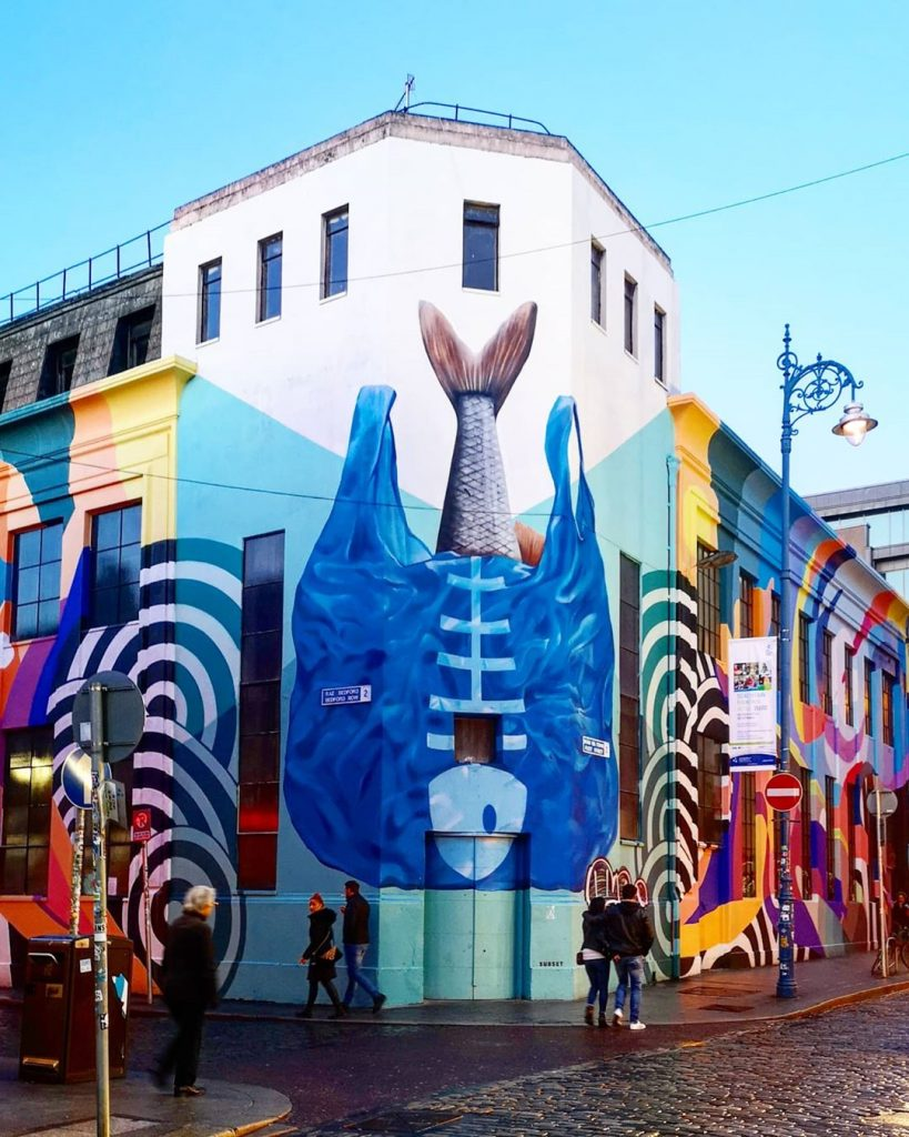 Temple Bar is another of the top Dublin street art sites you should catch art.