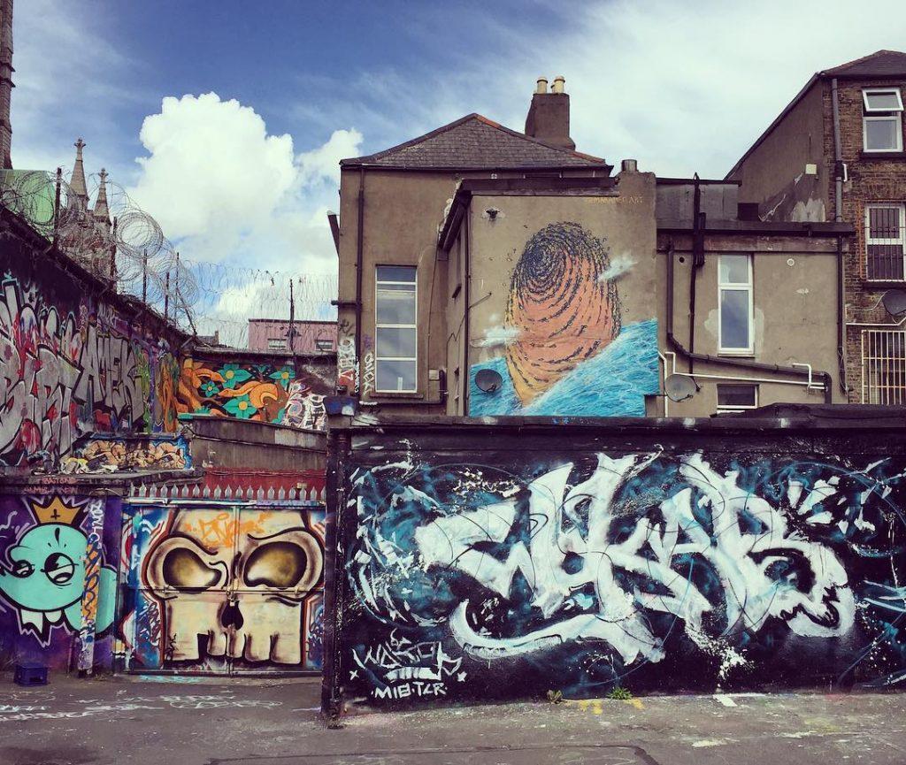 Dublin street art spots to grab good art is Tivoli Car Park.