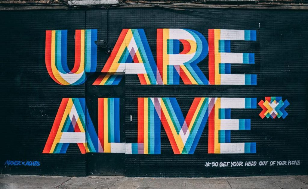 The U Are Alive art at Richmond Street is one of the top Dublin street art sites.
