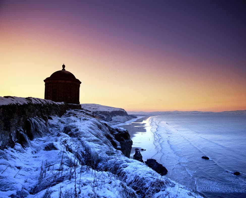 Mussenden Temple is beautiful in the winter