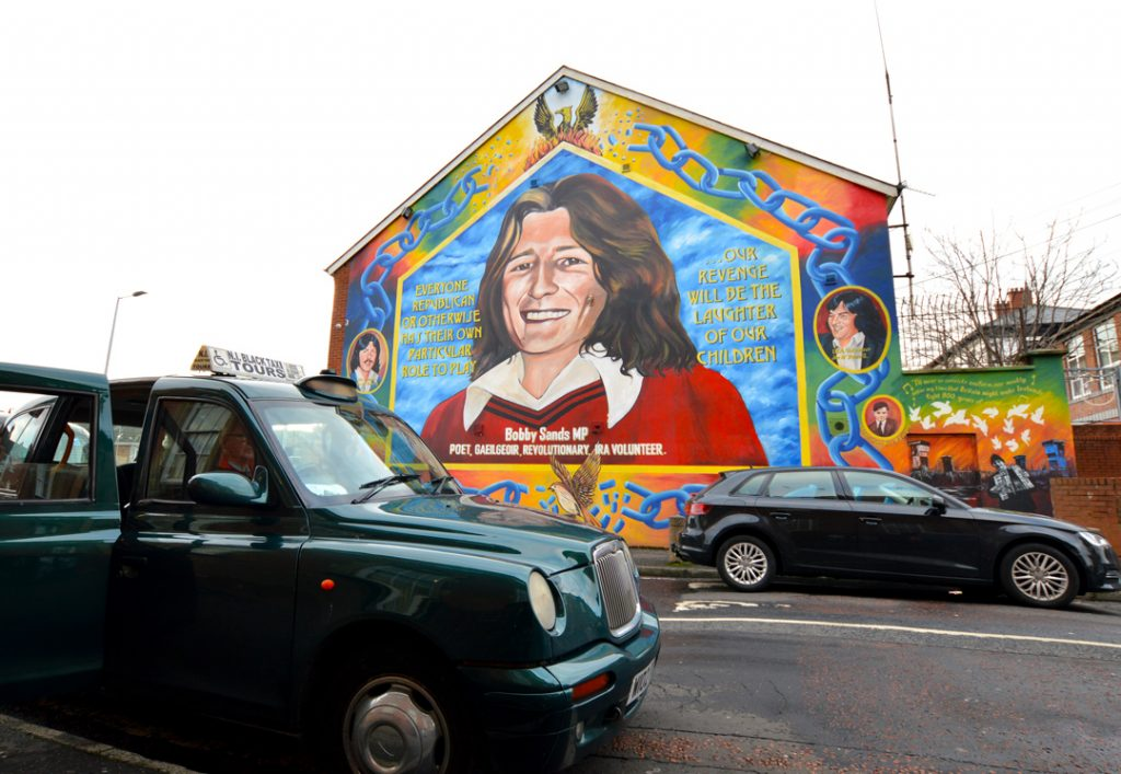 Taking a black cab taxi tour is another of the top best things to do in Northern Ireland.