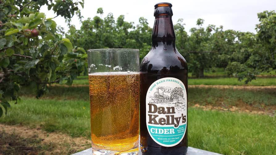 Dan Kelly's Cider is locally made and created from hand-picked fresh apples, grown on the Kelly's farm.