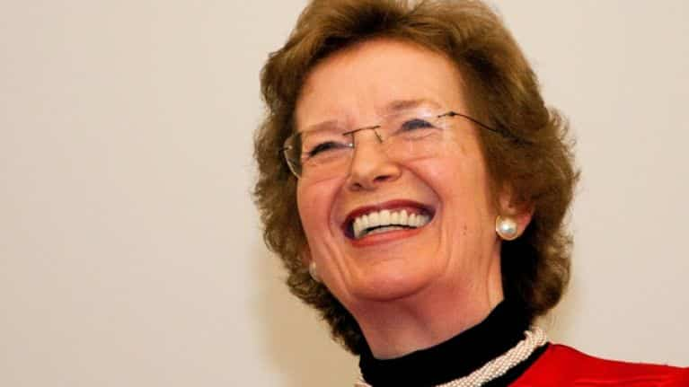 Mary Robinson is one of the 10 most famous Irish people ever